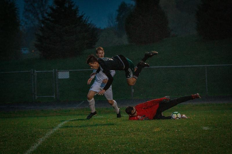 Holy Family Boys Varsity Soccer Section 6A Quarterfinal vs. Monticello, 10/10/19: Ben Creager '20 (10)