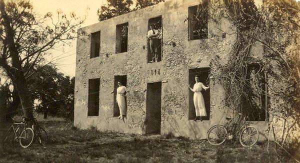 Horton House (built 1742) Historic Site. Undated historic photo. Jekyll Island, Georgia
