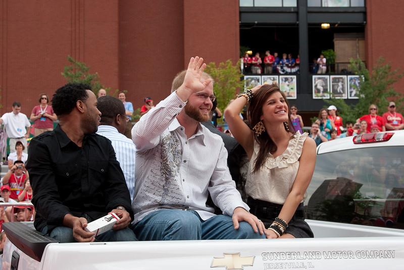 """Brian McCann, Braves, 2009 MLB All Star Game """"Red Carpet Show"""", St. Louis, MO"""