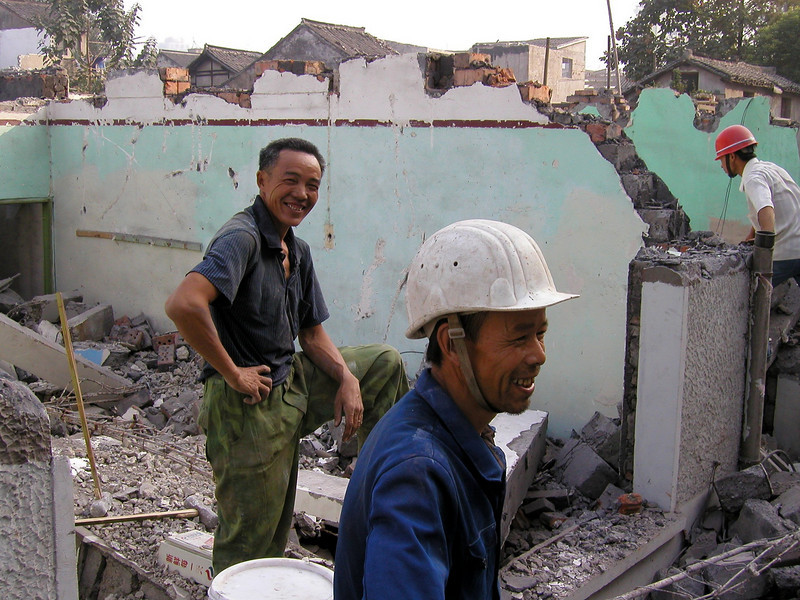 demolition workers, really friendly, hardwork without big equpment to help.