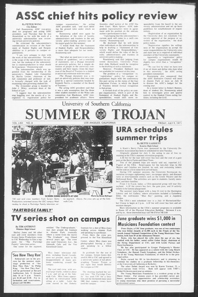 Summer Trojan, Vol. 63, No. 8, July 09, 1971
