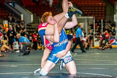 Session 1 - Part 1 - Cadet & Junior Freestyle - USA Wrestling Central Regionals 5-21-16