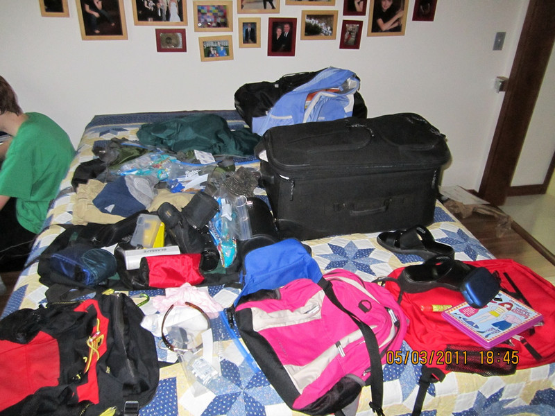 Tried to pack light but still made a BIG pile!