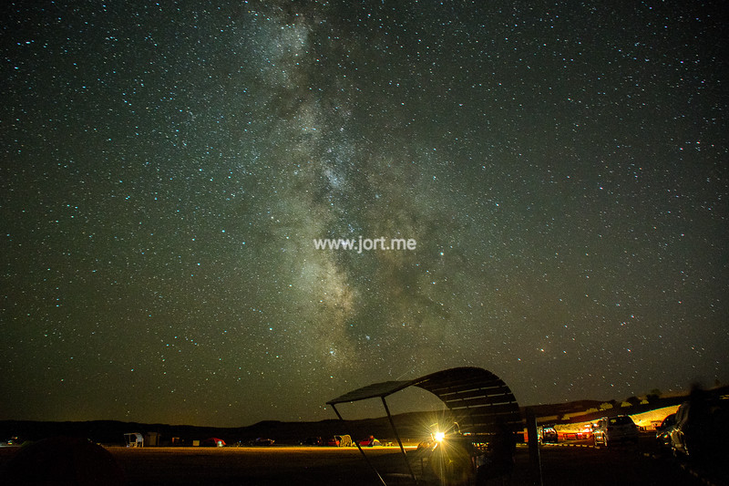 Milky Way over campground