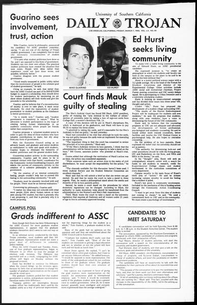 Daily Trojan, Vol. 60, No. 85, March 07, 1969