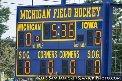 10-5-13 Michigan Field Hockey Vs Iowa