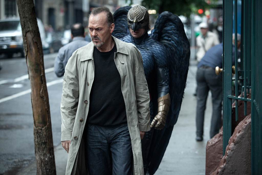""". In this image released by Fox Searchlight Pictures, Michael Keaton portrays Riggan in a scene from \""""Birdman.\"""" Keaton was nominated for a Golden Globe for best actor in a comedy or musical for his role in the film on Thursday, Dec. 11, 2014. The 72nd annual Golden Globe awards will air on NBC on Sunday, Jan. 11.  (AP Photo/Fox Searchlight, Atsushi Nishijima)"""