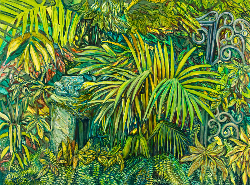 "© 2008 John Rachell Title: Garden, December 2, 2007 Image Size: 48"" w by 36"" d Dated: 2007 Medium and Support: Oils on canvas Signed: LL Signature"