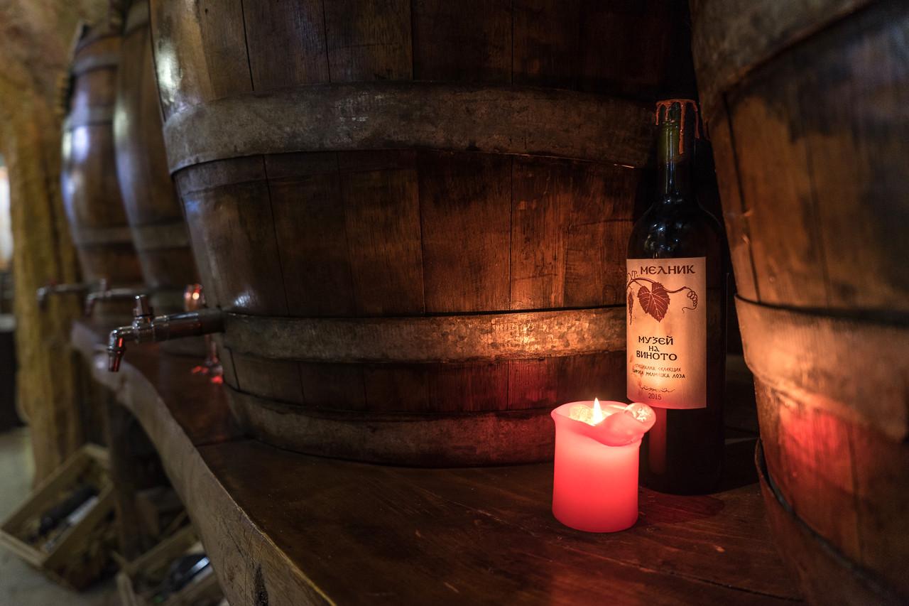 Bulgaria Melnik Wine Barrels