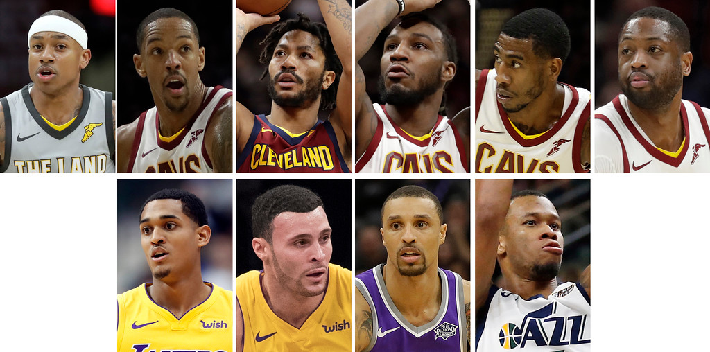. The Cavaliers revamped their roster ahead of the trade deadline on Feb. 8. Let\'s take a look at who went where. (Associated Press photos)
