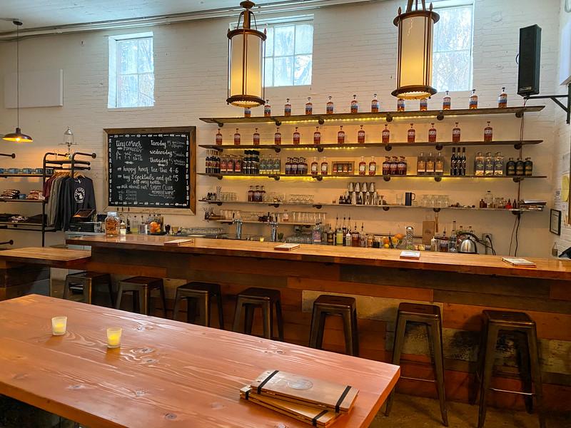 Ann Arbor Distilling Company tasting room