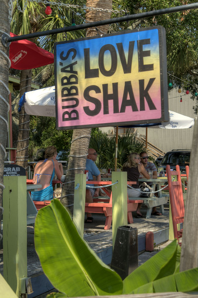 People enjoy outdoor dining at Bubba's Love Shak in Murrells Inlet, SC on Tuesday, September 10, 2013. Copyright 2013 Jason Barnette