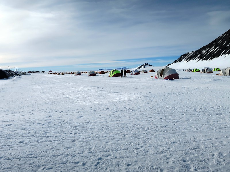 There are two big heated tents at Union Glacier camp