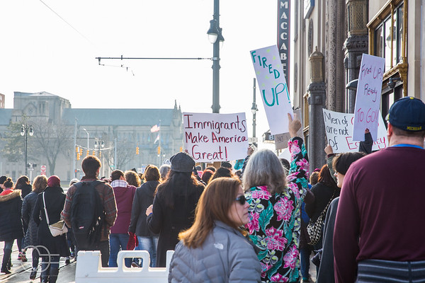 Women's March 2017 in Detroit, MI