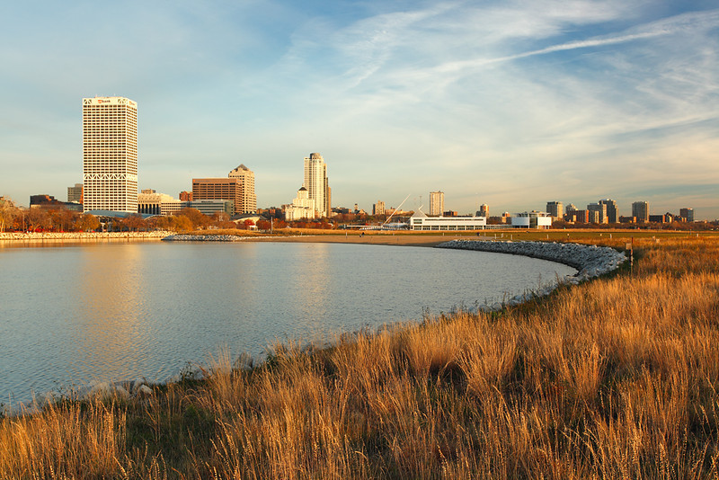 Milwaukee Skyline from Lake Shore State Park - Milwaukee, WI
