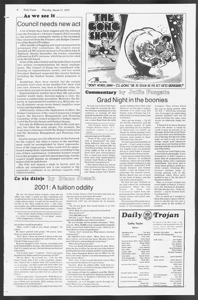 Daily Trojan, Vol. 71, No. 26, March 17, 1977