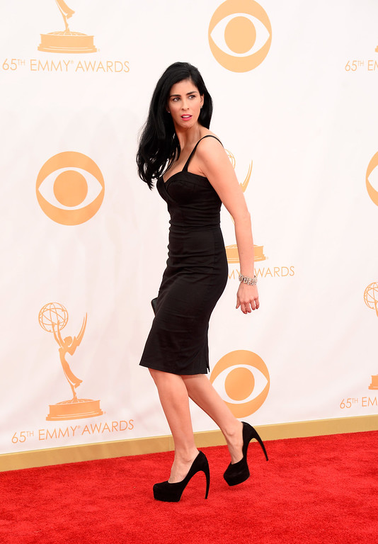 . Actress Sarah Silverman arrives at the 65th Annual Primetime Emmy Awards held at Nokia Theatre L.A. Live on September 22, 2013 in Los Angeles, California.  (Photo by Frazer Harrison/Getty Images)