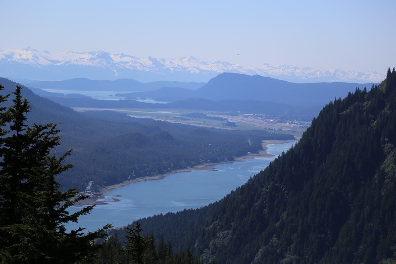 On top of Mt. Roberts in Juneau.