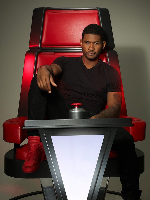 . THE VOICE -- Season: 4 -- Pictured: Usher -- (Photo by: Mark Seliger/NBC)