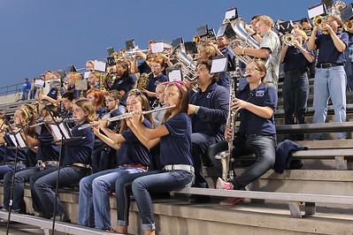 Band Performing at Baytown HS Football Game
