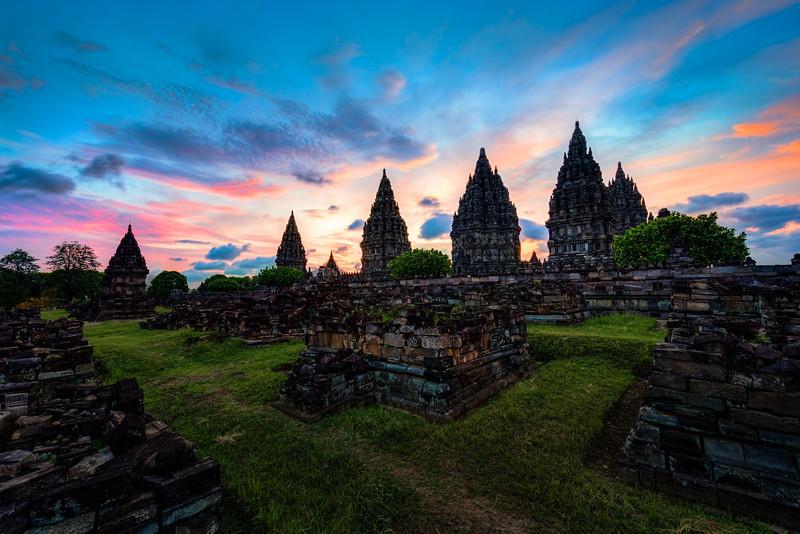 Prambanan Temple.  Java, Indonesia