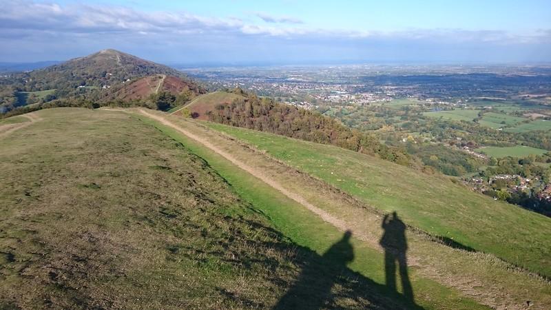 Sunshine covers the Malvern hills