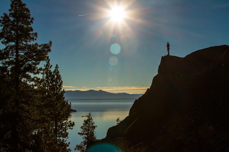 Man overlooking Lake Tahoe