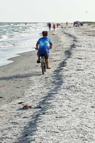 Midget Bikes On The Beach