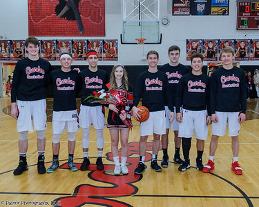 Boys BB senior night