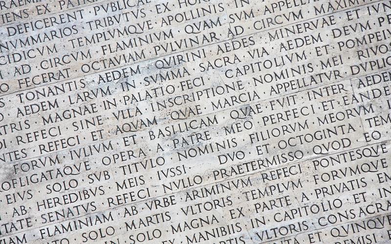 Latin Inscription at the Ara Pacis Museum