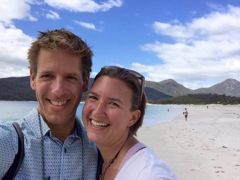 Trekking to Wineglass Bay Beach - Tasmania, Australia