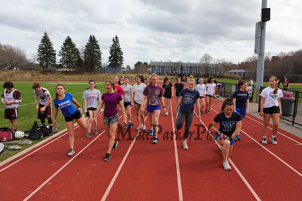 2019-4-19 WHS Spring Track workout practice