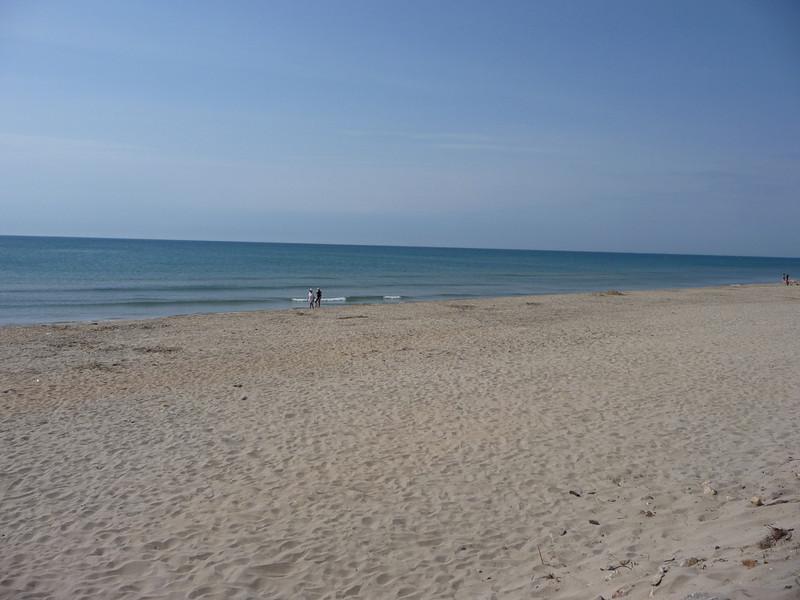 20km White sand beach between Cap D'Agde and Sete.