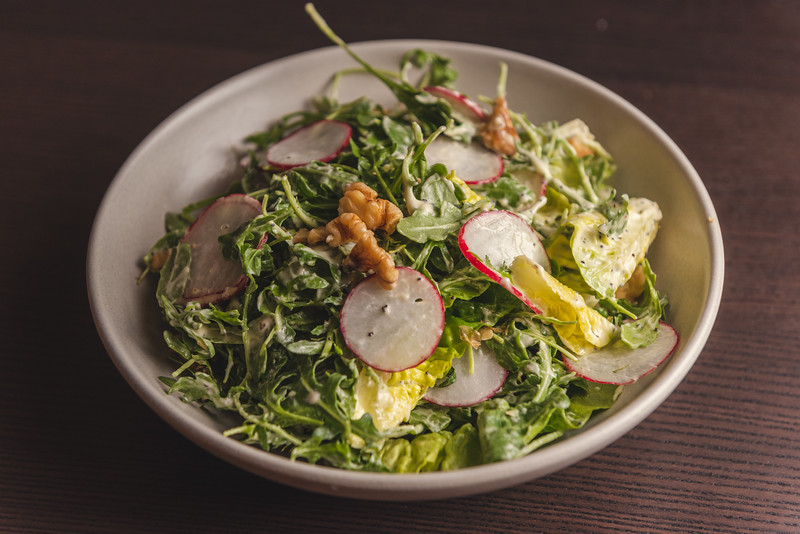 arugla and radish salad