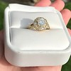 1.97ctw Antique Cluster Ring, GIA G SI2 6