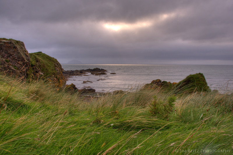 View from behind Turnberry #9 tee box.