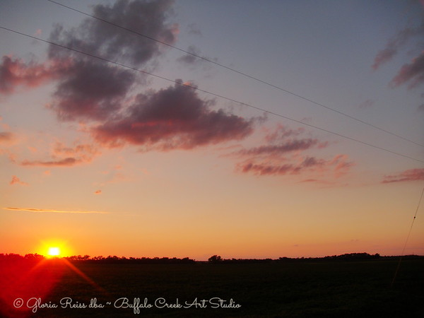 power lines and sunsets