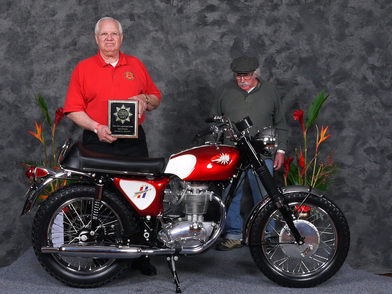 "Phil	Davis, ""Street Lightweight 1963-1970, Open"", 1968 BSA B44 Shooting Star"