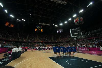 USA-FRANCE basketball game 29.7.2012
