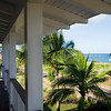 View of the ocean from a porch