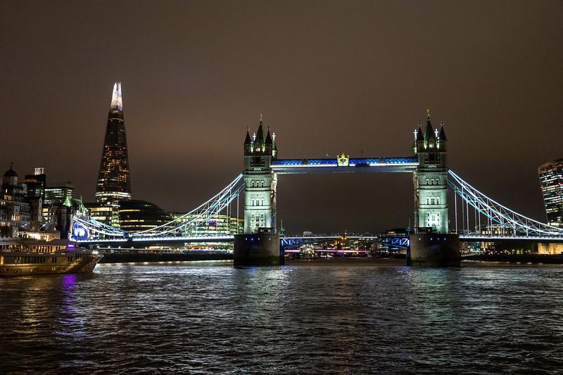 Tower Bridge and the Shard at night