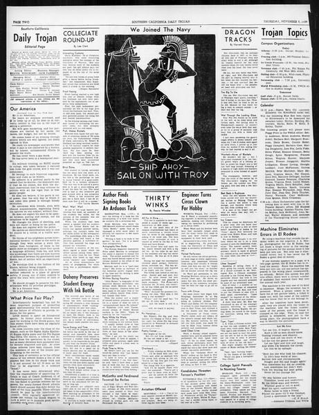 Daily Trojan, Vol. 31, No. 39, November 09, 1939