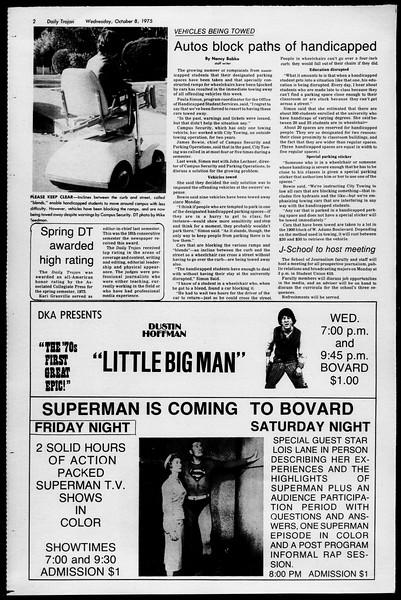 Daily Trojan, Vol. 68, No. 16, October 08, 1975