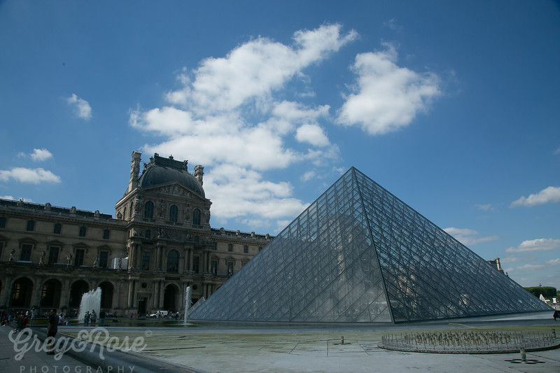 Triangles and old form at Louvre