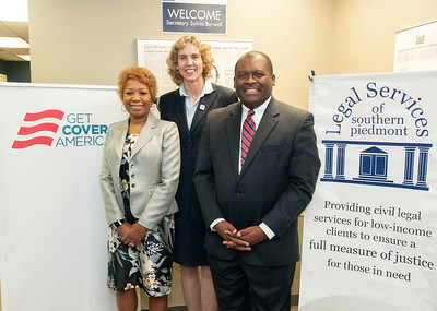 Trevor Fuller & HHS Secretary Sylvia Matthews-Burwell Tour Legal Services Of Sourhern-Piedmont 12-11-15