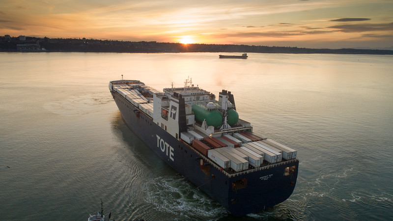 TOTE Midnight Sun arrives in Tacoma