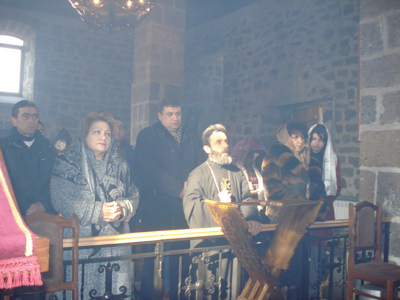 09 02-04 - A special mass was held to honor Millard in Armenia