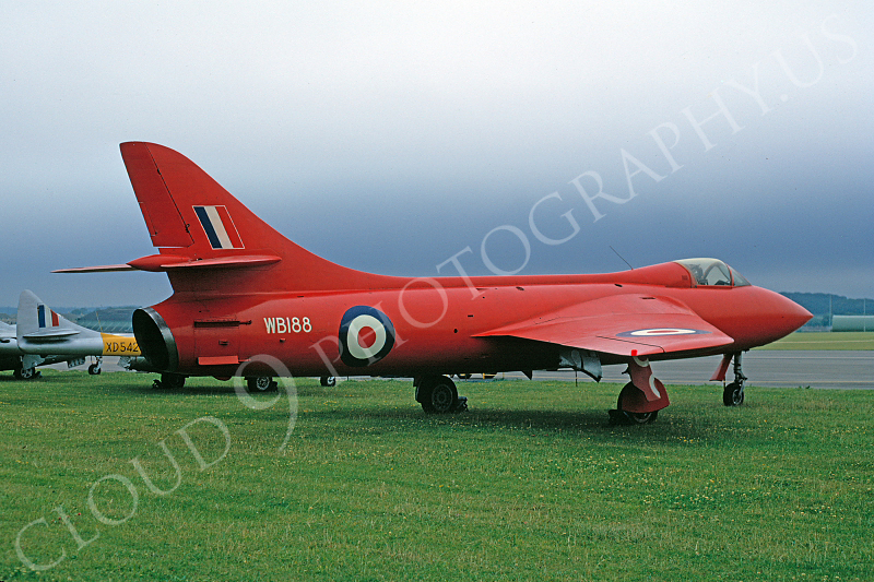Hawker Hunter 00037 Hawker Hunter British RAF WB188 4 July 1970 by Clive Moggoridge.JPG
