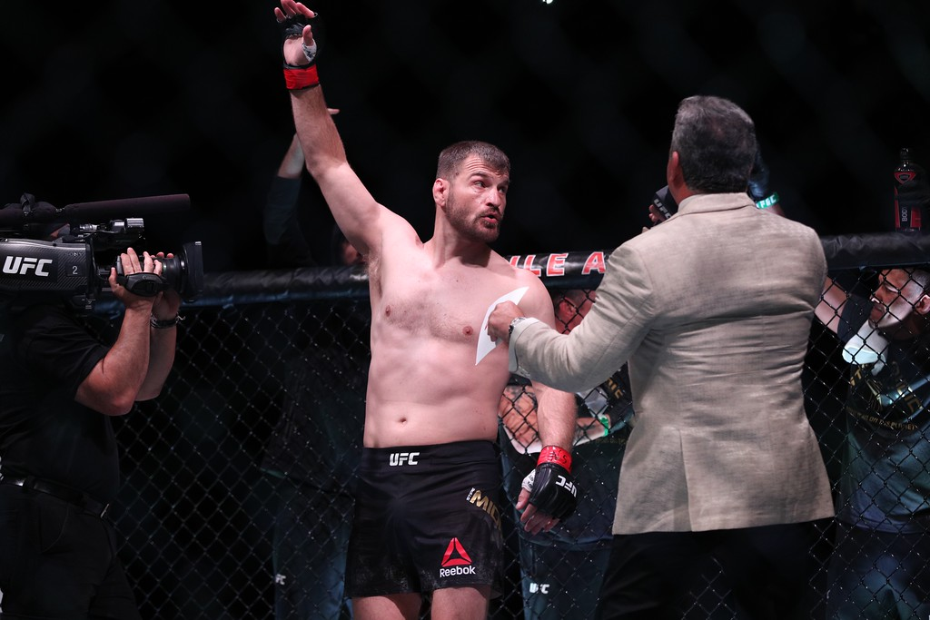. Tim Phillis - The News-Herald Stipe Miocic vs. Daniel Cormier at UFC 226 on July 7, 2018, in Las Vegas.