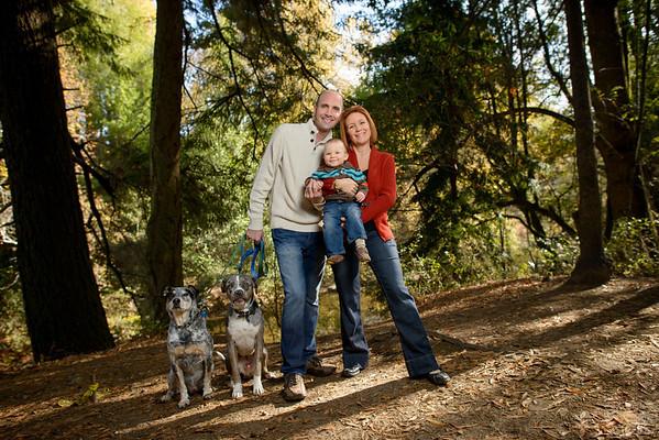Angela + Eric = Caleb (Family Photography) @ Henry Cowell State Park, Felton, California
